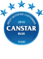 Winner of the 2016 Canstar Blue Most Satisfied Customers – Gyms Award
