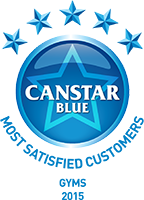 Winner of the 2015 Canstar Blue Most Satisfied Customers – Gyms Award