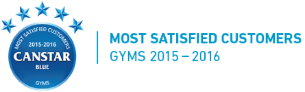 Winner of the 2015 and 2016 Canstar Blue Most Satisfied Customers – Gyms Award