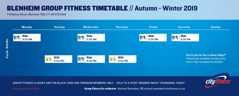 Cl Timetable | Fitness Classes Yoga Cardio Strength Cityfitness